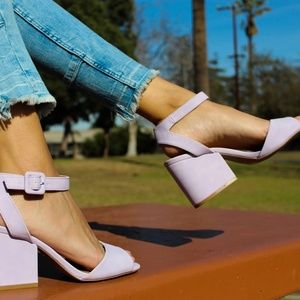 🆕//The Lucy// Lilac single strap heel